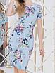 Мила голубое Платье цветочный принт, фото 5