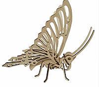 Деревянный 3D конструктор Shasheltoys  Бабочка 16 деталей  (020201)