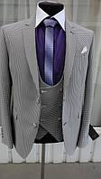 Пиджак мужской с жилетом Braga модель 699