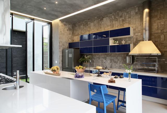 Кухонная столешница Искусственный камень - кварц Silestone Blanco Zeus - Photo