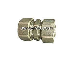 Муфта для металлопластиковой трубы 16*16 усиленная Forte