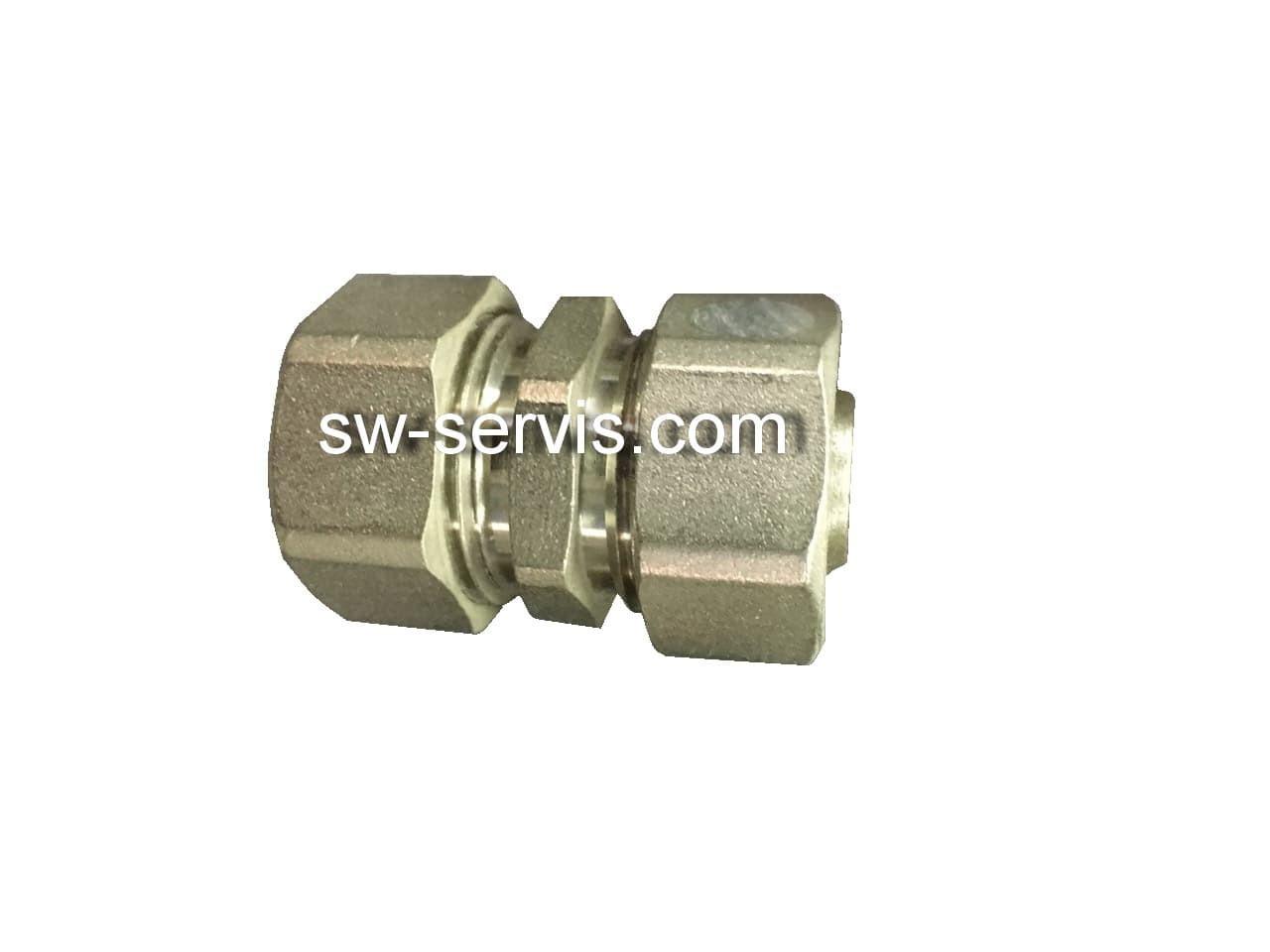 Муфта для металопластикової труби 20*20 посилена Forte