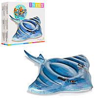 Детский надувной плотик Intex Скат, 188-145 смдо 40 кг, 57550