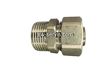 Муфта с наружной для металлопластиковой трубы 16*1/2 усиленная Forte