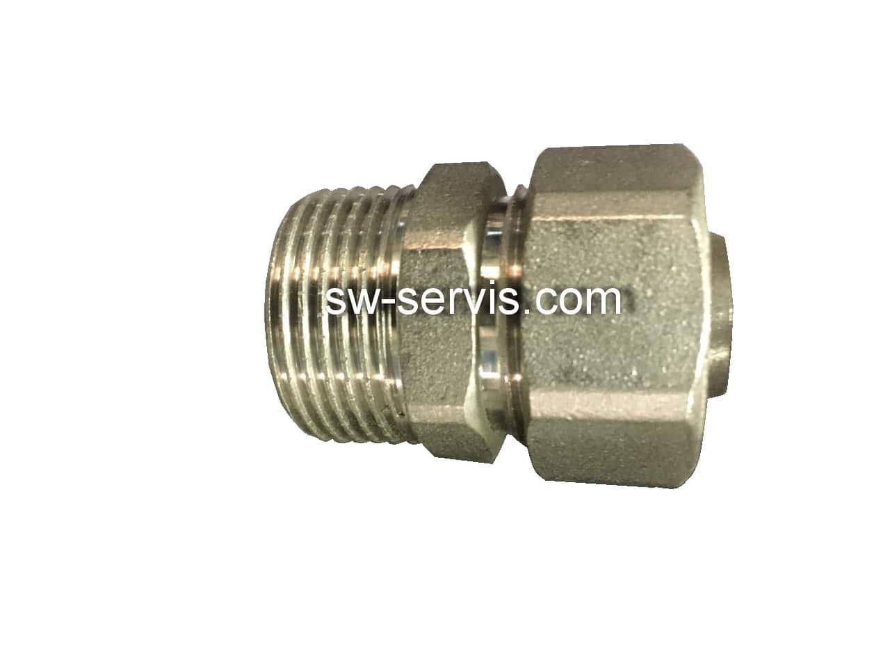 Муфта с наружной для металлопластиковой трубы 20*1/2 усиленная Forte