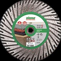 Круг алмазный Distar Turbo Duplex 125 мм, диск для резки, шлифовки и снятия фасок по граниту для УШМ
