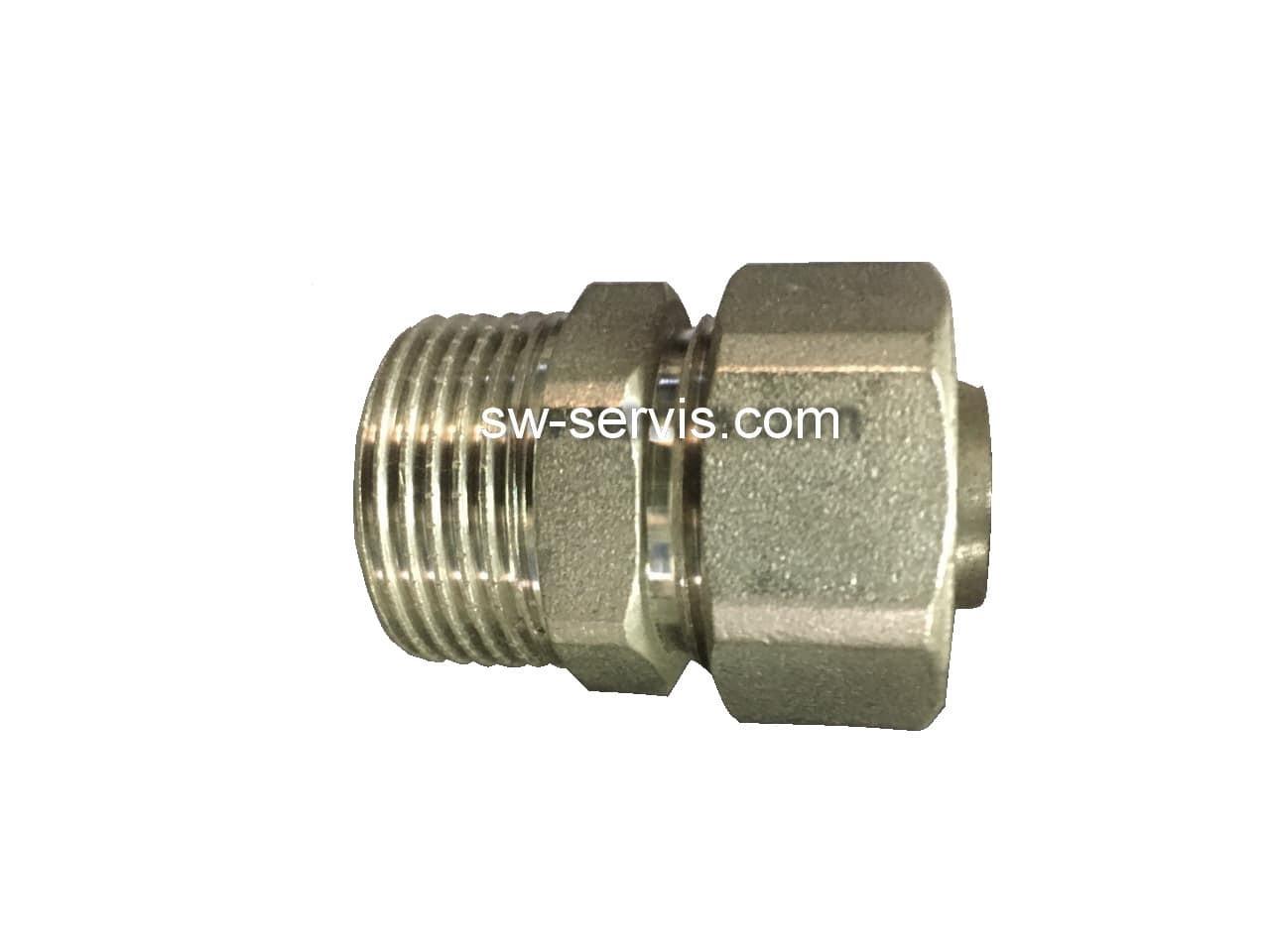 Муфта с наружной для металлопластиковой трубы 20*3/4 усиленная Forte