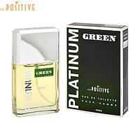 Фужерные свежие  мужские духи с нотами зелени и пачули от Positive Parfum PLATINUM GREEN 95 мл Россия