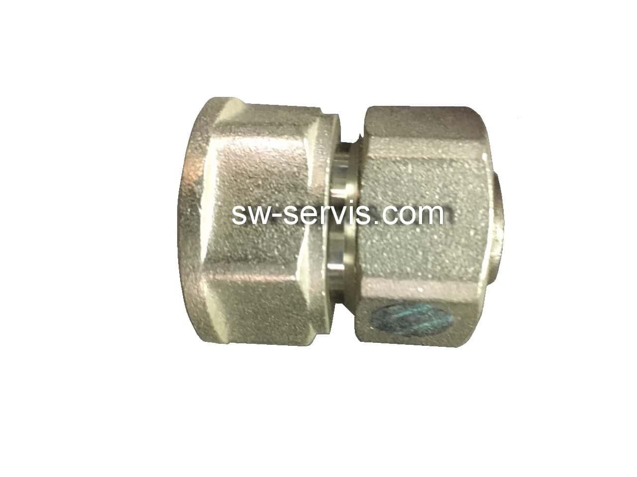 Муфта з внутрішньою для металопластикової труби 16*1/2 посилена Forte