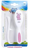 Щетка для волос мягкая + гребешок Canpol Babies