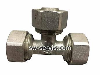 Тройник для металлопластиковой трубы 16*16*16 усиленный Forte
