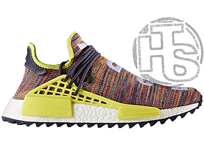 Мужские кроссовки Adidas Human Race NMD Pharrell MultiColor Noble Ink Yellow/White AC7360