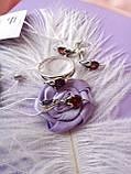 Срібний комплект Мишка (сережки, кільце, кулон), фото 2