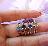 Срібний комплект Мишка (сережки, кільце, кулон), фото 4