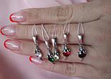 Срібний комплект Мишка (сережки, кільце, кулон), фото 7