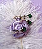 Срібний комплект Мишка (сережки, кільце, кулон), фото 8