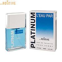 Свежие мужские духи океанические Positive Parfum (Россия)  PLATINUM LEAU PAR 95 мл фабричные