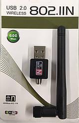 Скоростной wi-fi адаптер 600 Mb USB 2.0  802.1IN