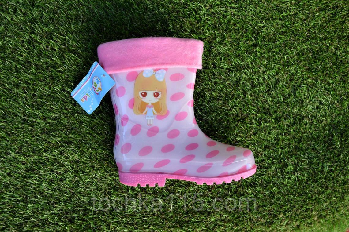 Детские сапоги резиновые силиконовые розовые р27 - 32 , фото 1