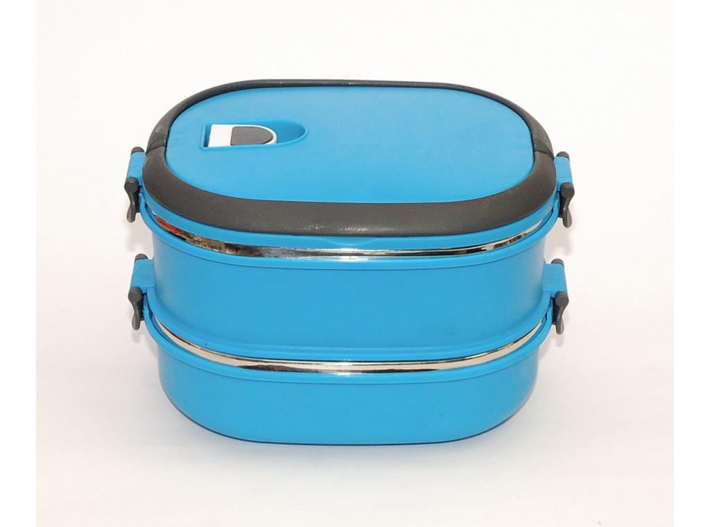 Вакуумный термос 1,8 л для еды (2 отделения). Ланч бокс двойной