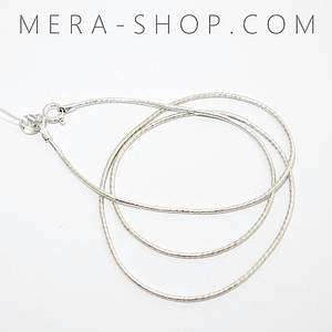 Серебряная цепочка Змейка Снейк арт.1 (40 - 60 см)