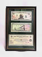 Картина с банкнотой 1000000$ долларов - денежный талисман