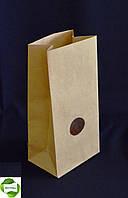 Бумажный пакет(с окном) для чая и кофе 95х60х190