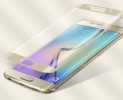 Защитное стекло 3D Samsung S8  (изогнутое) золотое