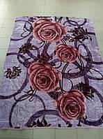 Плед Фиолетовая роза двухспальный акриловый