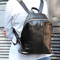 """Кожаный женский рюкзак из натуральной кожи черный """"10290 Black"""""""