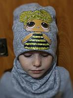 Комплект шапка и снуд 52-54 размер