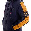 Куртка-жилет для мальчика «Стен» 8-13 лет (синий+горчица), фото 5