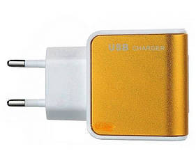 Адаптер ES-D09 на 2 USB 220V (цвета в ассортименте)