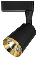 Трековый светодиодный светильник 18Вт 4000K черный-золото AL111, фото 1