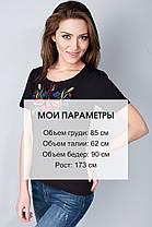 "Футболка вышиванка ""Колоски"" черная KRAYKA, фото 3"