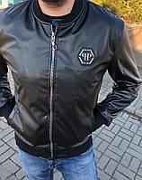 Кожаная куртка в стиле Philipp Plein, фото 1