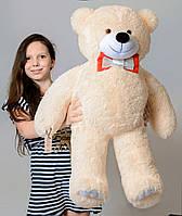 Мягкий плюшевый Медведь бежевый 85 см