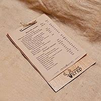 """Доска-меню. Деревянное меню для гриль-паба """"Егерь"""""""