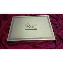 Постельное белье Сатин Страйп-сатин 1х1 см белый ТМ Царский дом  (Евро макси), фото 3