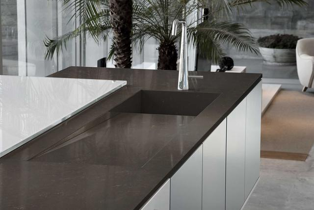 Кухонная Cтолешница искусственный камень Silestone Calypso - Photo