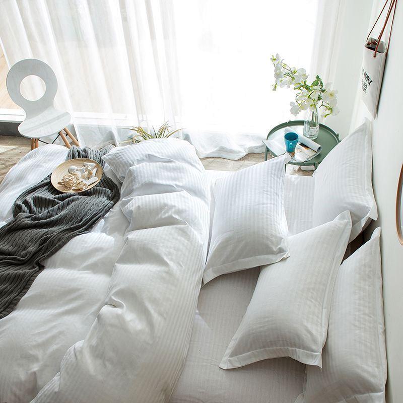 Постельное белье Сатин Страйп-сатин 1х1 см белый ТМ Царский дом  (Евро макси)