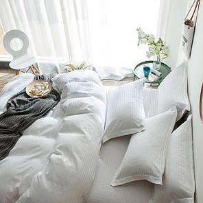 Постельное белье Сатин Страйп-сатин 1х1 см белый ТМ Царский дом  (Евро макси), фото 2