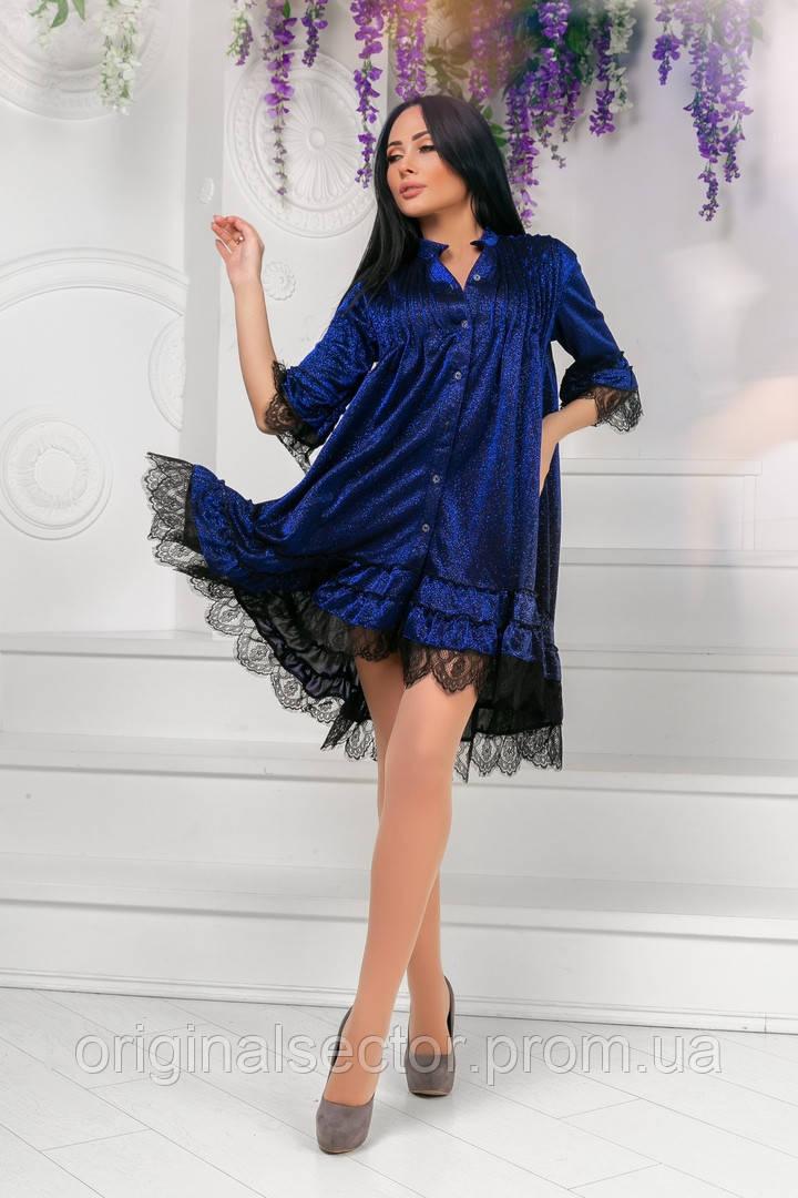 Женское романтичное платье-трапеция Л-ХЛ