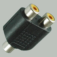 Переходник гн.RCA- 2х гн.RCA, корпус пластиковый 10 штук