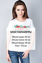 "Футболка вышиванка ""Пять маков"" белая KRAYKA, фото 3"
