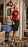 Молодежное женское платье до колен баска оригинальным рифом потайная молния дайвинг
