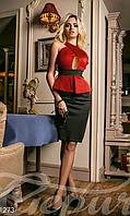 Молодежное женское платье до колен баска оригинальным рифом потайная молния дайвинг, фото 1