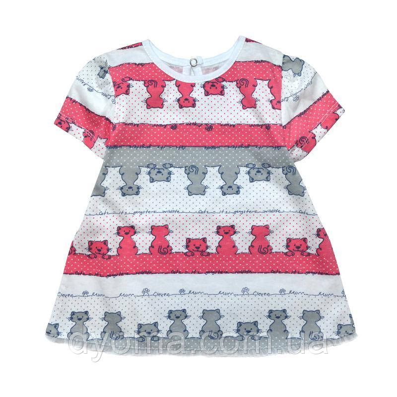 """Дитяче літнє плаття """"Котики"""" для дівчаток"""