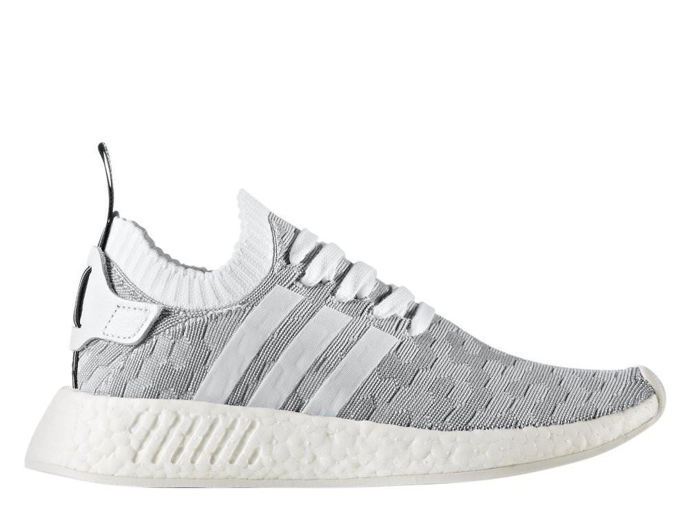 "Женские кроссовки  Adidas NMD R2 Primeknit Women ""Footwear White/Core Black""  BY9520"