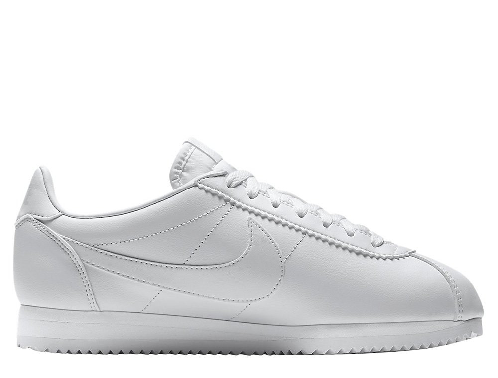 "Женские кроссовки  Nike Wmns Classic Cortez Leather ""All White""  807471-102"
